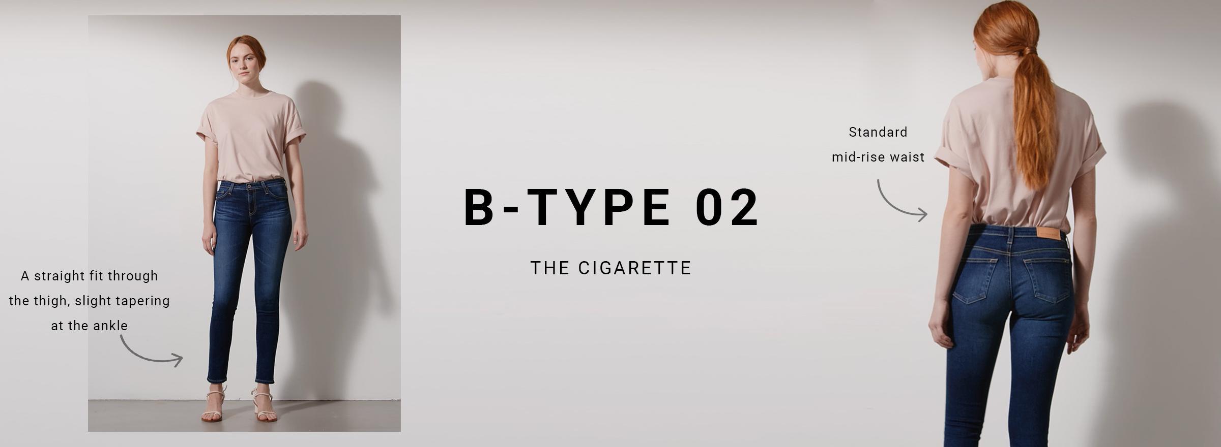 Shop B-Type 02 Womens Cigarette Jeans on Big Star Denim
