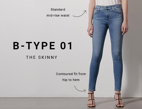Shop B-Type 01 Womens Skinny Jeans on Big Star Denim