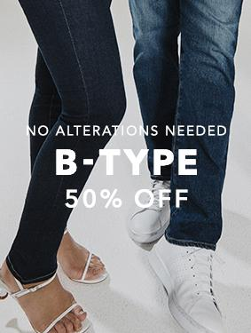 Shop denim from the BTYPE collection at 50 percent off