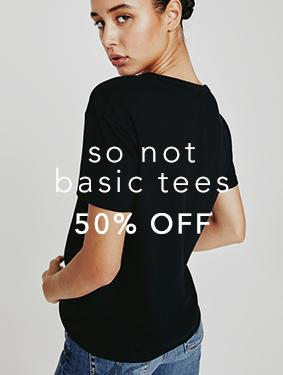 Save 50 percent off on your everyday tees