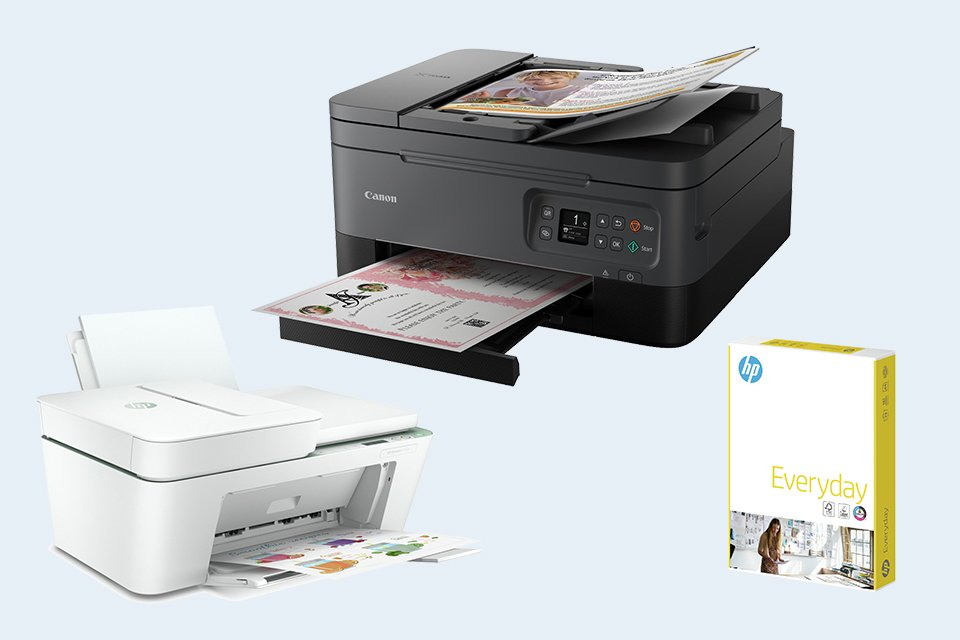Printers & printer paper.