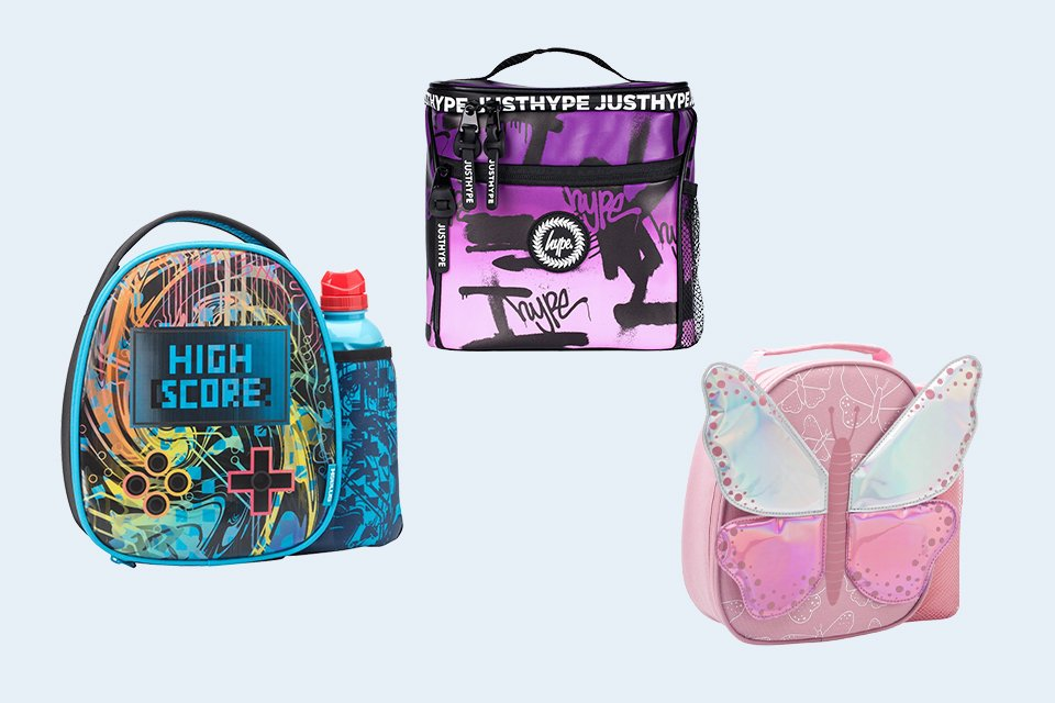 Lunch bags & bottle sets.