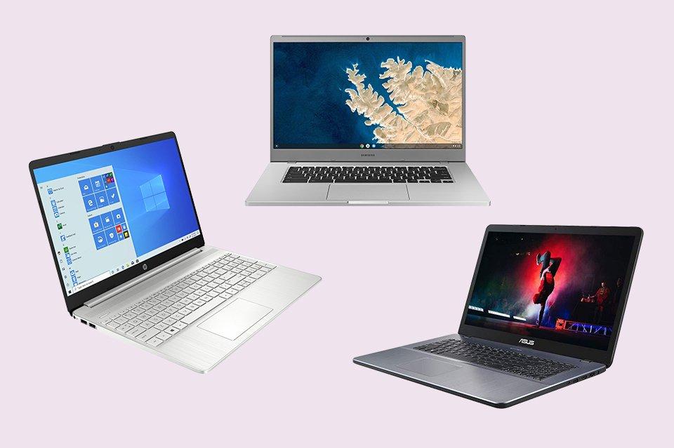Three laptops.