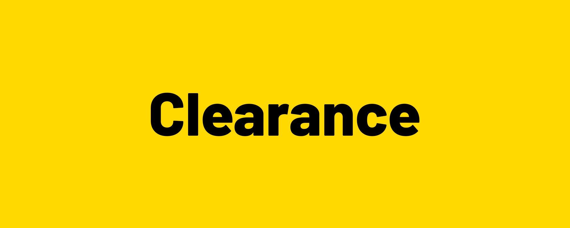 Clearance.
