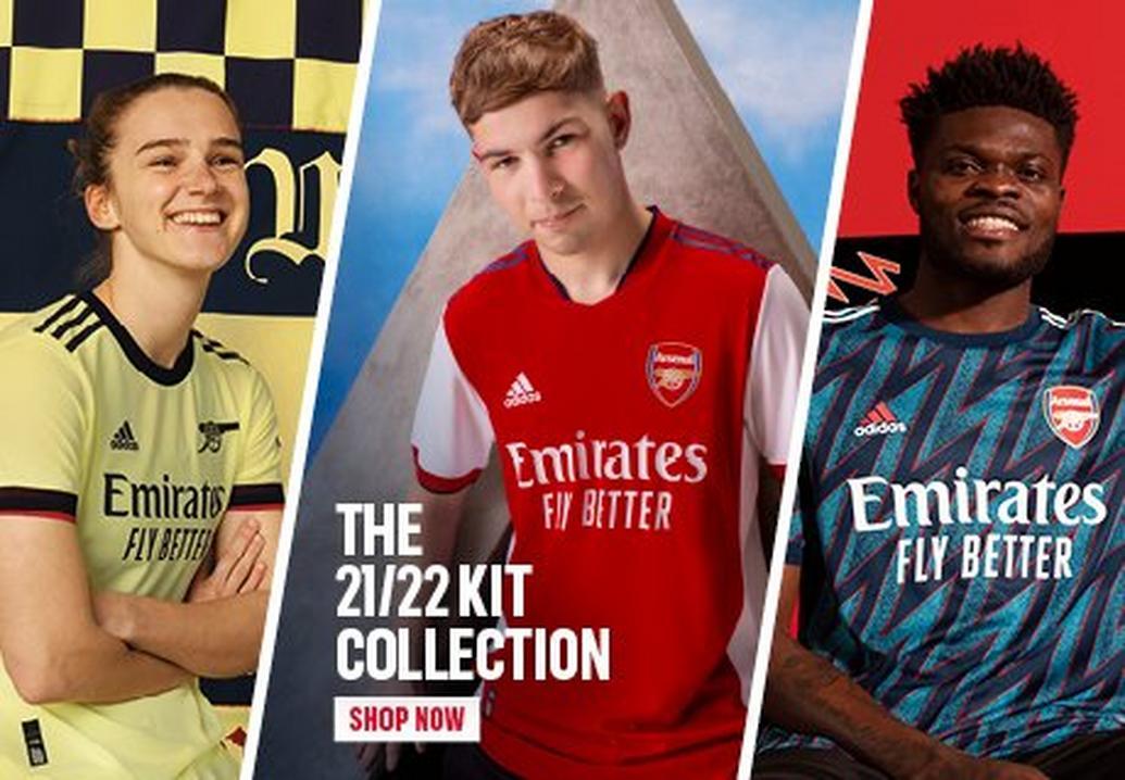 Arsenal shirts 21/22 season