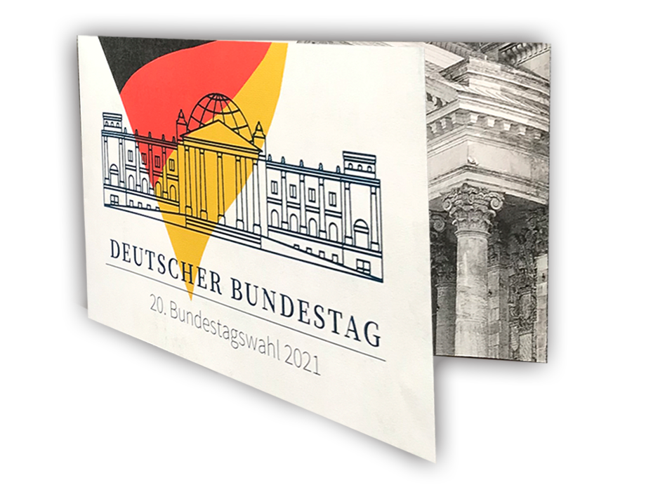 Sonderedition Bundestagswahl 2021 - Stamp Card