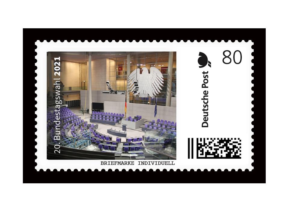 Sonderedition Bundestagswahl 2021! - mit offiziellen Postwertzeichen der Deutschen Post!