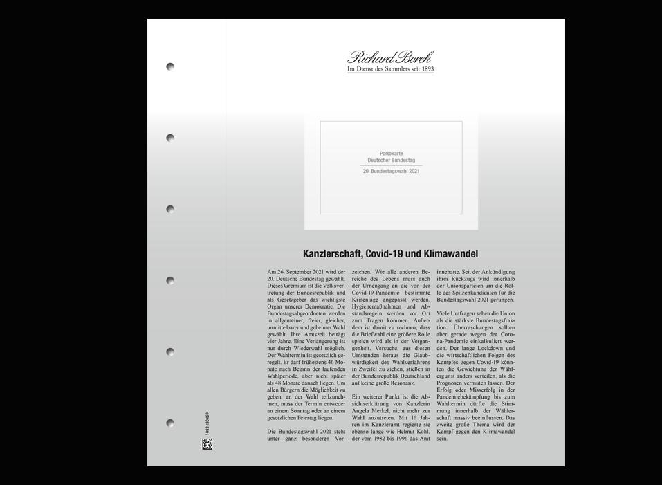 Sonderedition Bundestagswahl 2021! - limitierte Stamp Card