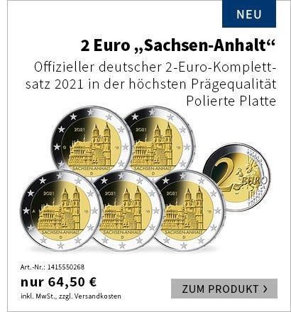 '2 Euro Münze Sachsen-Anhalt 2021