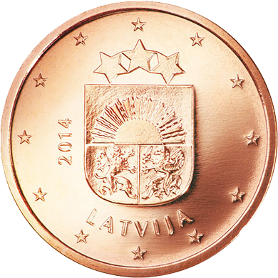 1 Euro-Cent Lettland Motivseite