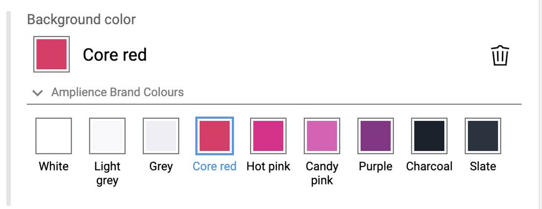 You can easily configure the brand colour extension to allow selection of colours that are part of your branding.