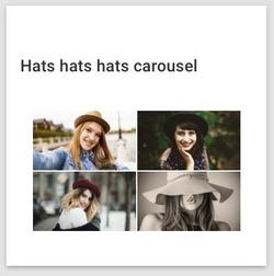 A gallery of carousel slides displayed on the card for a carousel content item