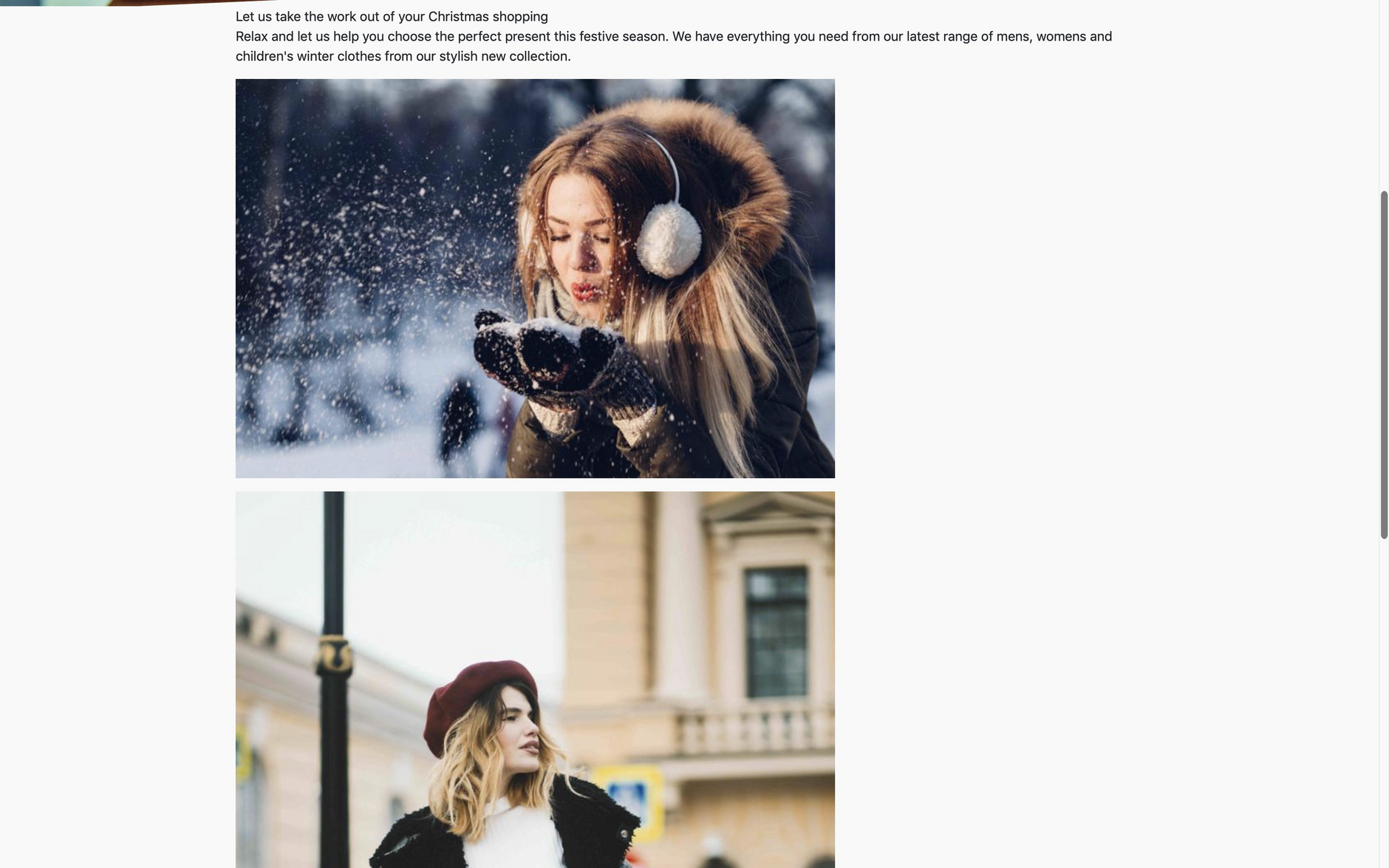 Previewing the blog asset on a stand alone page