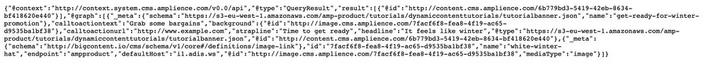 The JSON-LD for the Get ready for winter promotion content item returned from the content delivery API