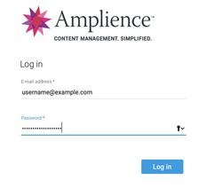 Logging in to the Dynamic Content app