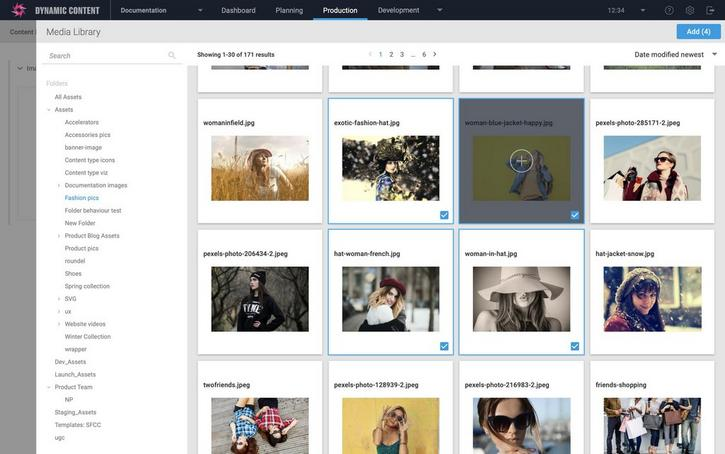 Adding multiple images from the media browser