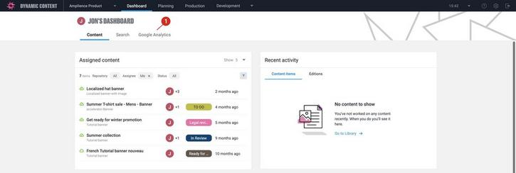 When you register a dashboard extension, it is added to the Dashboard using its label