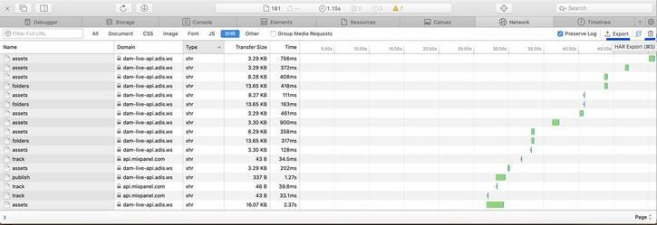 Generating a HAR file using Apple Safari