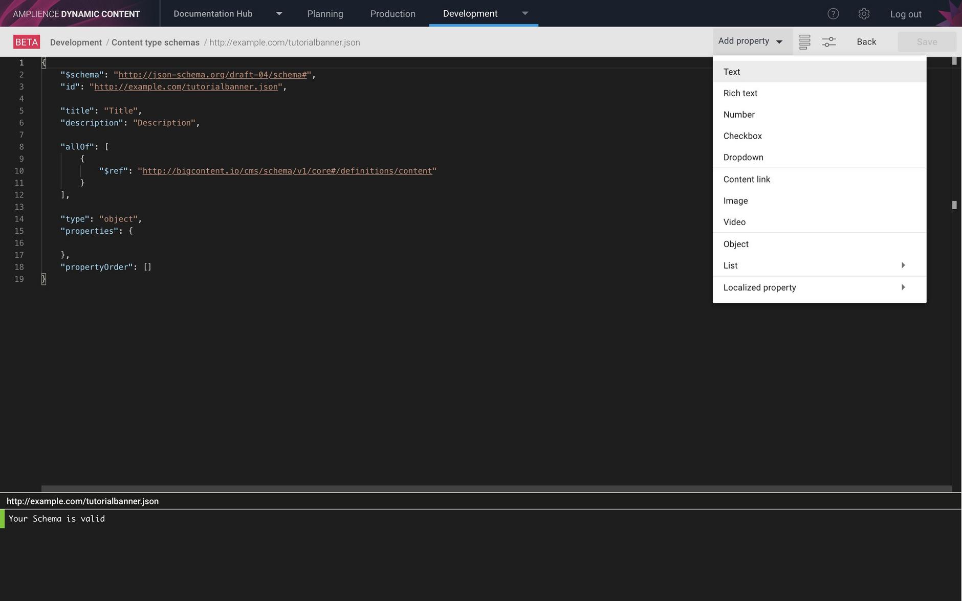 Adding text properties