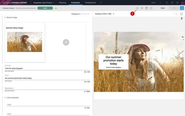 Creating a content item