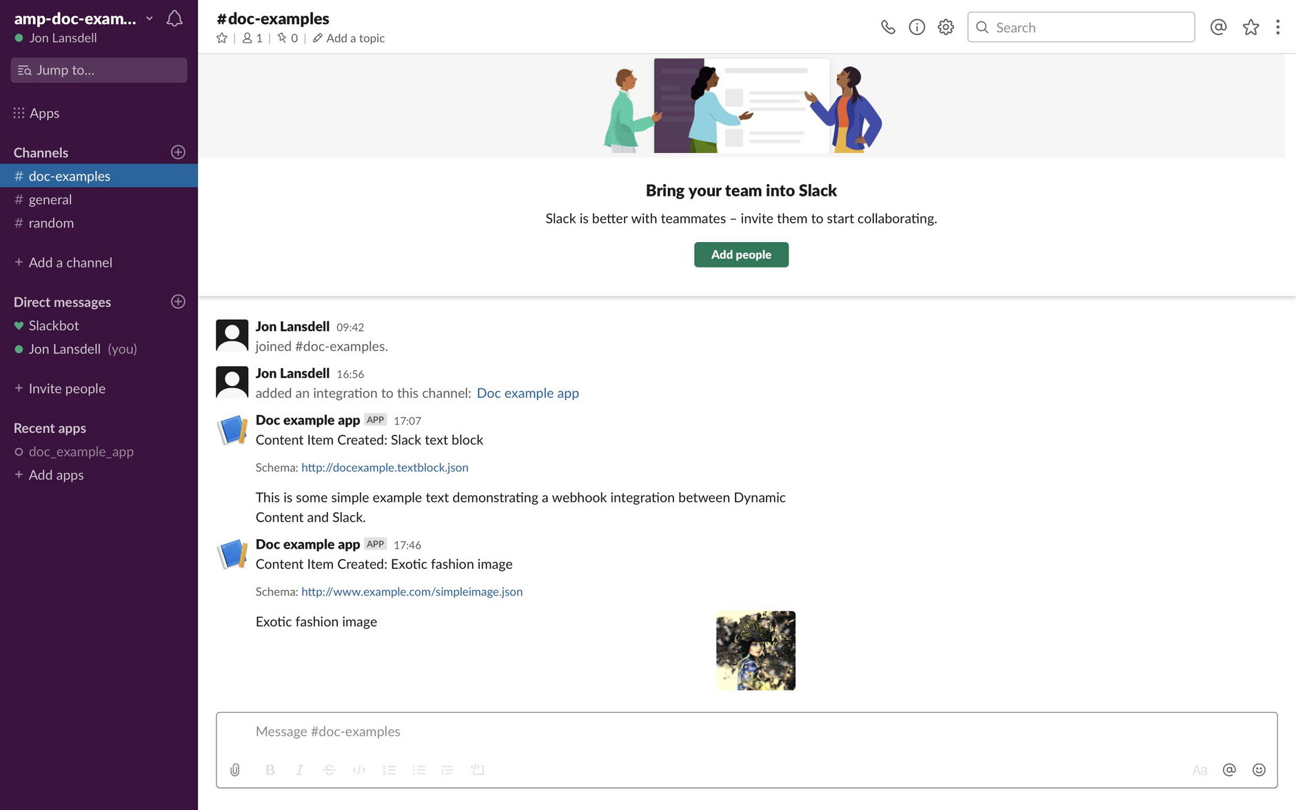 The image is shown in a new Slack message