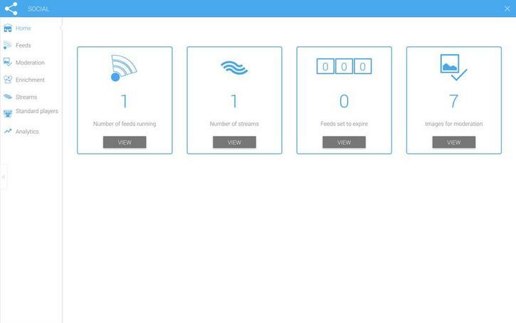 The Social app dashboard