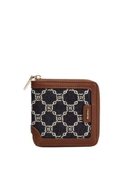 Mango - navy Embroidered chains wallet, Women