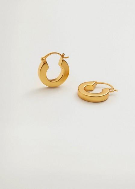 Mango - gold Hoop earrings, Women