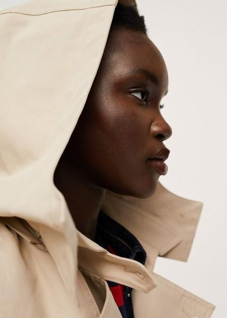Mango - Light Beige Classic Cotton Trench Coat, Women