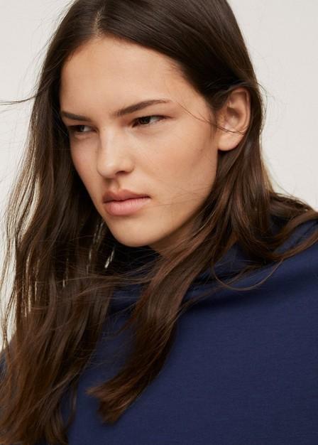 Mango - navy Stretch hoodie, Women