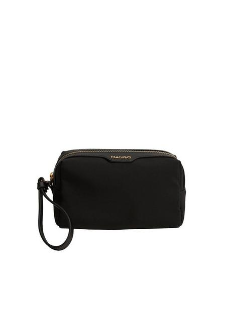 Mango - black Logo zipper toiletry bag, Women