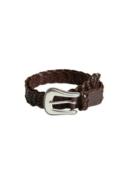 Mango - brown Reclaimed leather belt, Women