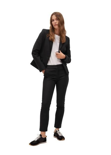 Mango - Black Suit Slim-Fit Trousers, Women