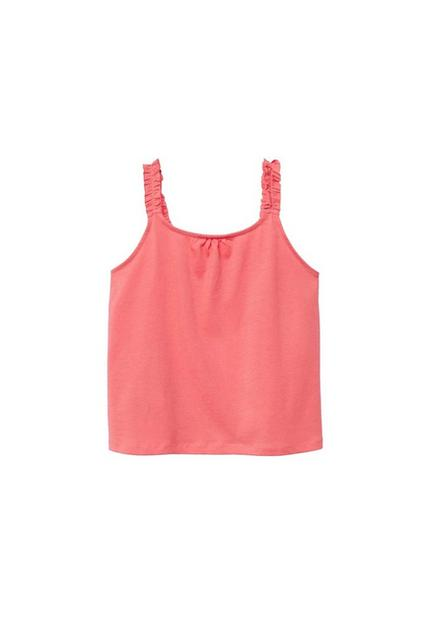 Mango - medium red Ruffled strap t-shirt