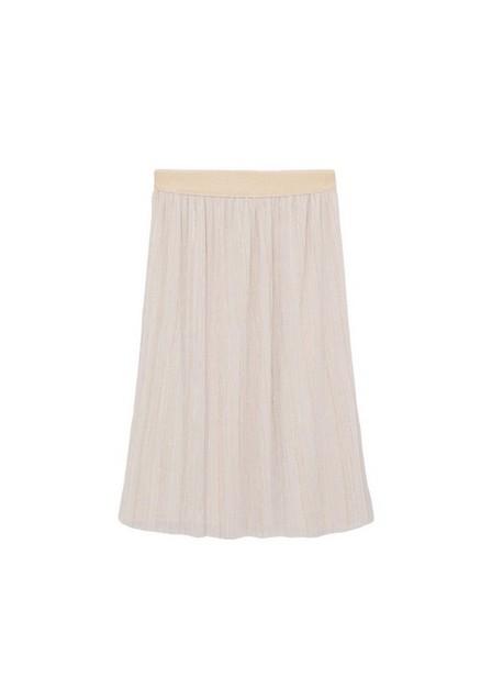 Mango - gold Textured lurex skirt, Kids Girl