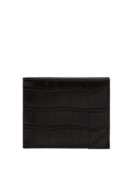 Mango - black Croc-effect wallet, Men
