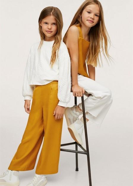 Mango - medium yellow Fluid culotte trouser, Kids Girl
