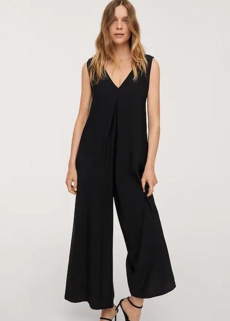 Mango - black Long strap jumpsuit, Women