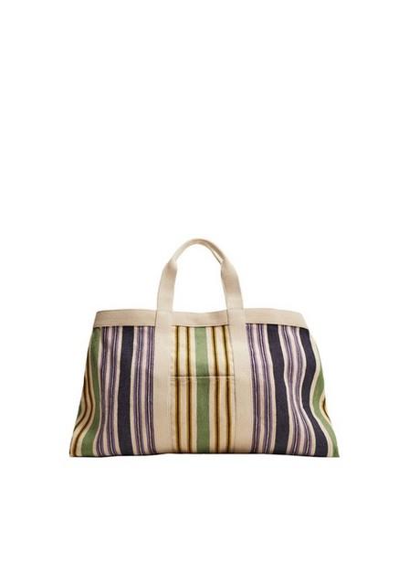 Mango - light beige Cotton fabric shopper bag, Women