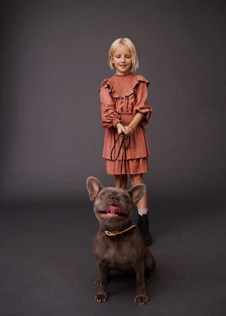 Mango - Pink Ruffled Flowed Skirt, Kids Girl