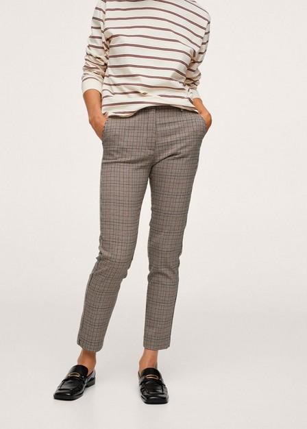 Mango - Brown Crop Skinny Trousers, Women