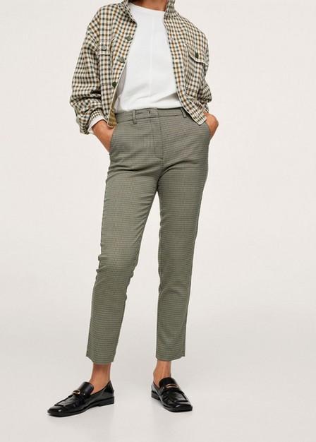 Mango - Green Crop Skinny Trousers, Women