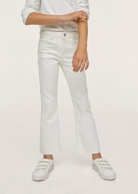 Mango - white Flared jeans, Kids Girl