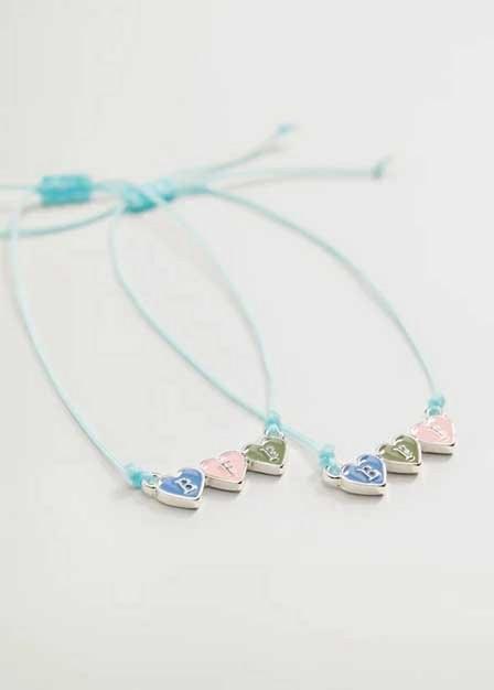 Mango - silver Best Friends bracelet 2 set, Kids Girl