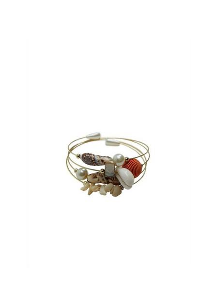 Mango - gold Shell beads bracelet, Women