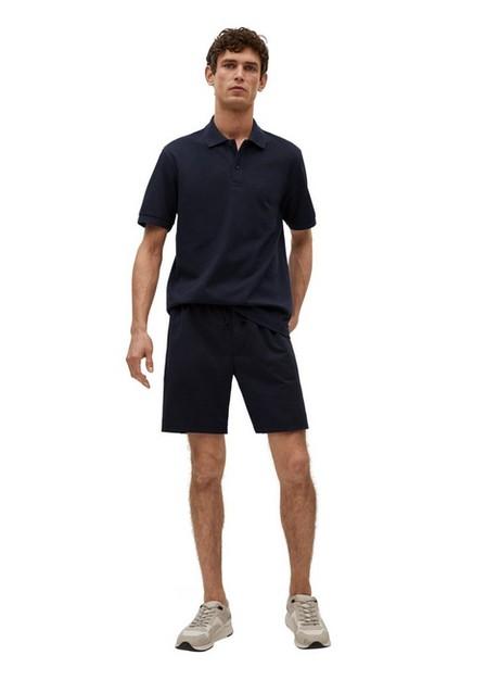 Mango - Navy Technical Cotton Pique Polo Shirt, Men