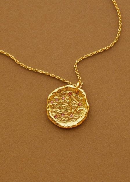 Mango - Gold Libra Horoscope Necklace, Women