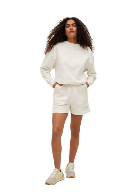 Mango - White Cotton Shorts With Message, Women