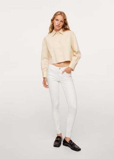 Mango - white Kim skinny push-up jeans, Women