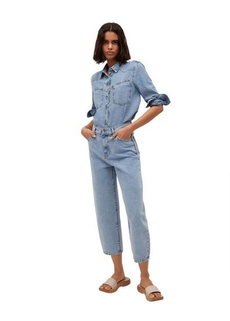 Mango - open blue High-waist balloon jeans, Women